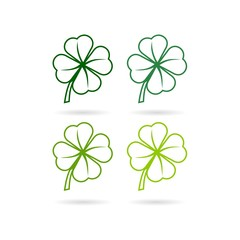 Four leaf clover icon. Simple illustration of four leaf clover icon for web