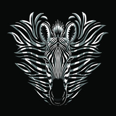 zebra illustration graphic design print resource