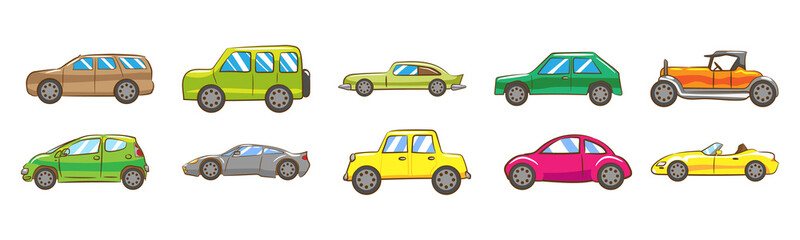 car vector set clipart design