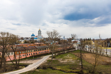 Orthodox churches in the city of Serpukhov, Moscow Region, Russia, in the historical center of the city