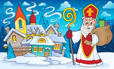 Printed roller blinds For Kids Saint Nicholas topic image 6
