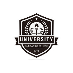 University, college logo vector