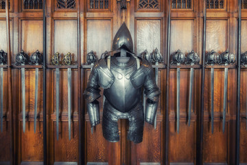 medieval armor and swords