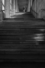 the progress of success in the symbolism of stairs and man