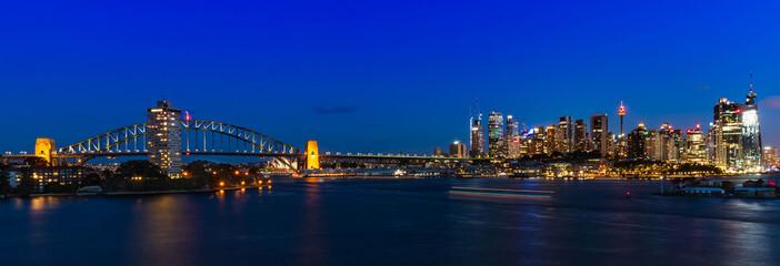 Printed roller blinds Sydney Sydney by night from Wawerton, Australia