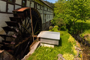 Historische Hahnensteiner Mühle in Insul