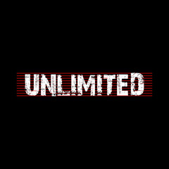 Unlimited - Text Vector background design for t-shirt graphics, banner, fashion prints, slogan tees, stickers, cards, posters and other creative uses