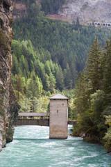 Holzbrücke Altfinsermünz, Nauders, Österreich