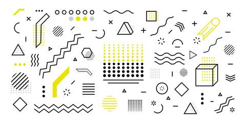 Fototapeta Trendy geometric shape background. Minimal poster 3d shape abstract. Simple element illustration. Vector obraz