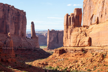 Canvas Prints Bordeaux Arches National Park, eastern Utah, United States of America, Delicate Arch, La Sal Mountains, Balanced Rock, tourism, travel destionation, beautiful nature, landscape, vacation, holiday, road trip