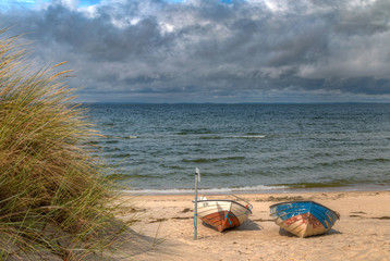 Boote an der Ostsee,