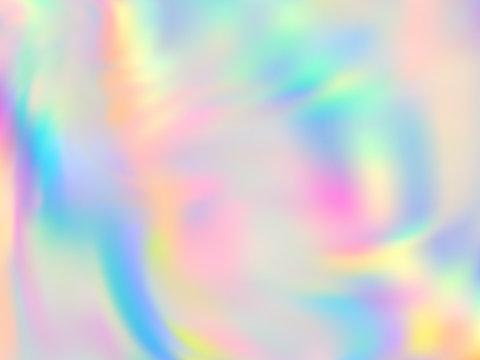 Holographic gradient neon vector illustration.