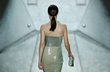 Fashion house Akris' Spring/Summer 2020 women's ready-to-wear collection show during Paris Fashion Week