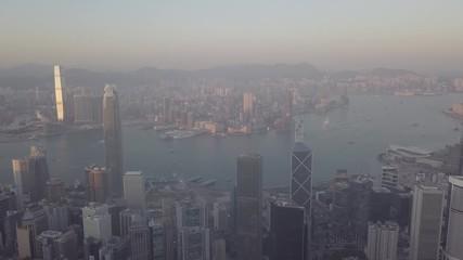 Fotomurales - Victoria Peak, Hong Kong  - March 10, 2018 : Hong Kong city view from the peak