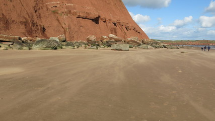 Exmouth orange beach and cliffs
