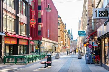 Drottninggatan street. Stockholm, Sweden