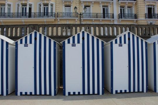 Cabines de plage, Cabourg.