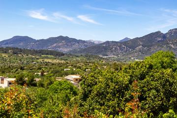 Landscape around the village Campanet in the north of Mallorca