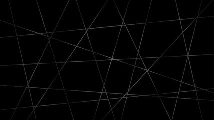 Abstract dark background of intersecting lines in gray colors