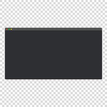 dark theme modern blank computer window vector