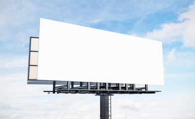 Blank white sky billboard