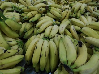 Banana for sale at the supermarket