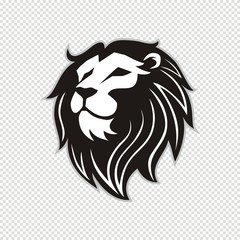 Lion head logo for t-shirt, Lion mascot Sport wear typography emblem graphic, athletic apparel stamp