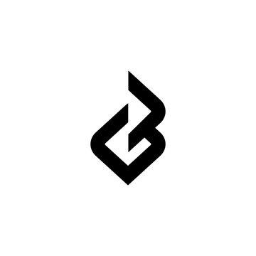 GB logo monogram icon vector template