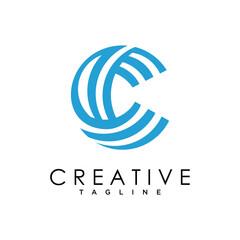 Letter C logo icon design template elements, Initial C logo design concept
