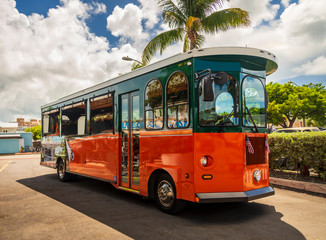 Historic Trolley Buses of Key West, Florida