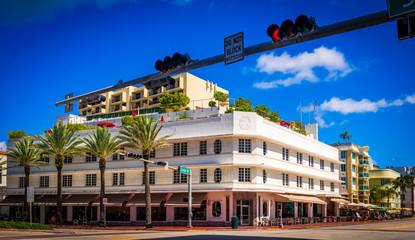 Art Deco district hotels on Ocean Drive, Miami Beach