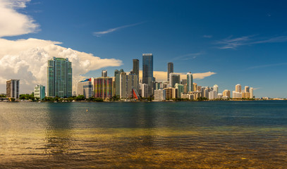 Spoed Foto op Canvas New York City Panorama of reflections of Miami downtown district