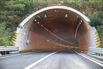 Fototapeta Entrance to a country road tunnel obraz