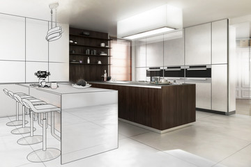 Contemporary Designed Kitchen (plan)