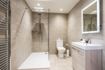 interior of modern bathroom