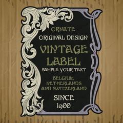 Fotobehang Vintage Poster vector vintage items: cover Art Nouveau