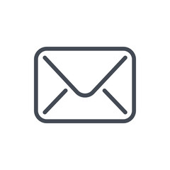 Mail line icon. Email vector outline sign.