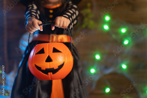 Girl in halloween