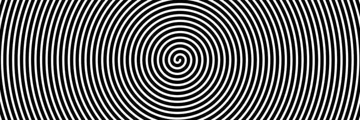Photo Blinds Spiral Black spiral on white banner 03