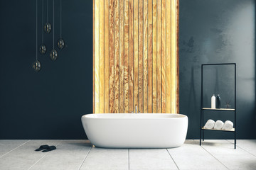 Wall Mural - Black bathroom interior