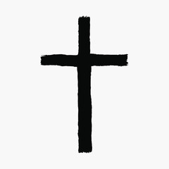 Hand drawn Vector grunge cross sign