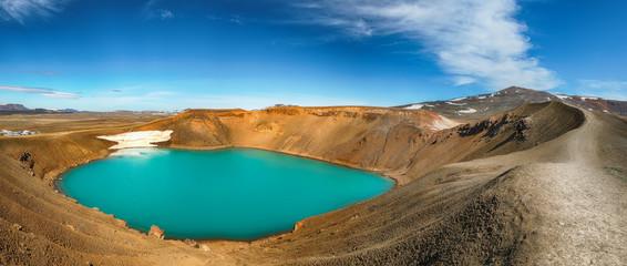 Splendid view of famous crater Viti at Krafla geothermal area Wall mural
