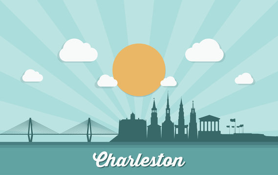 Charleston skyline - United States of America - USA - South Carolina