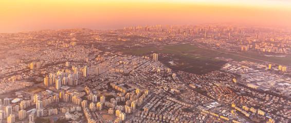 Aerial view of Tel Aviv, Israel.