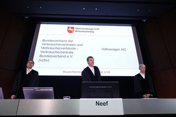 Start of a hearing over the VW diesel emissions cheating scandal, in Braunschweig