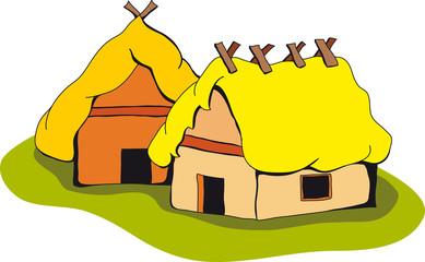 keltische Häuser