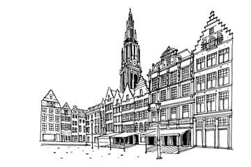 Fototapete - Grote Markt square in Antwerpen, Belgium.