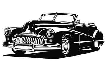 Classic vintage retro car design