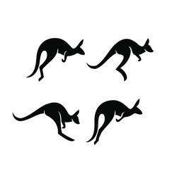 kangaroo logo icon designs vector
