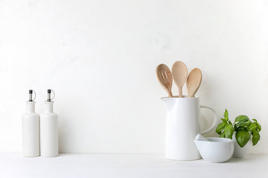 Contemporary kitchen background with blank space for a text